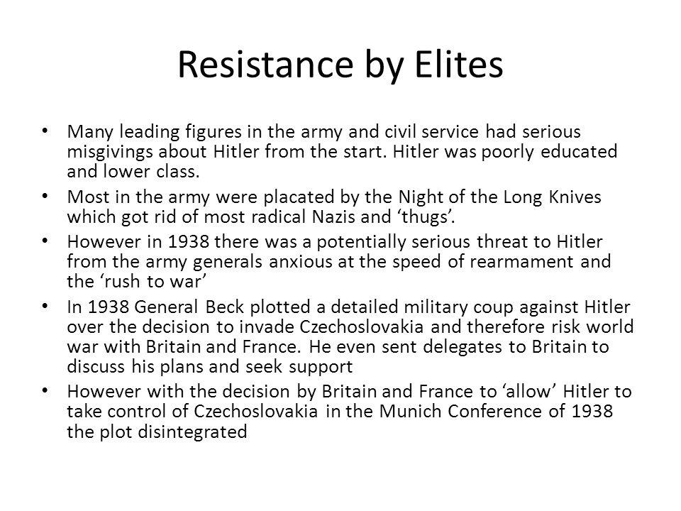 Resistance by Elites