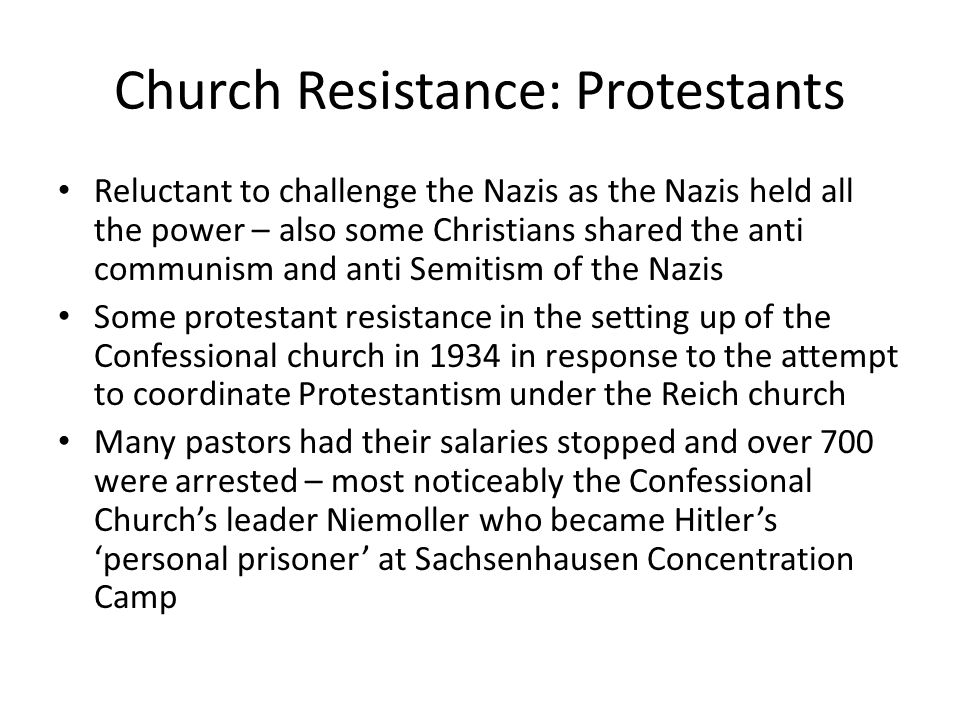 Church Resistance: Protestants