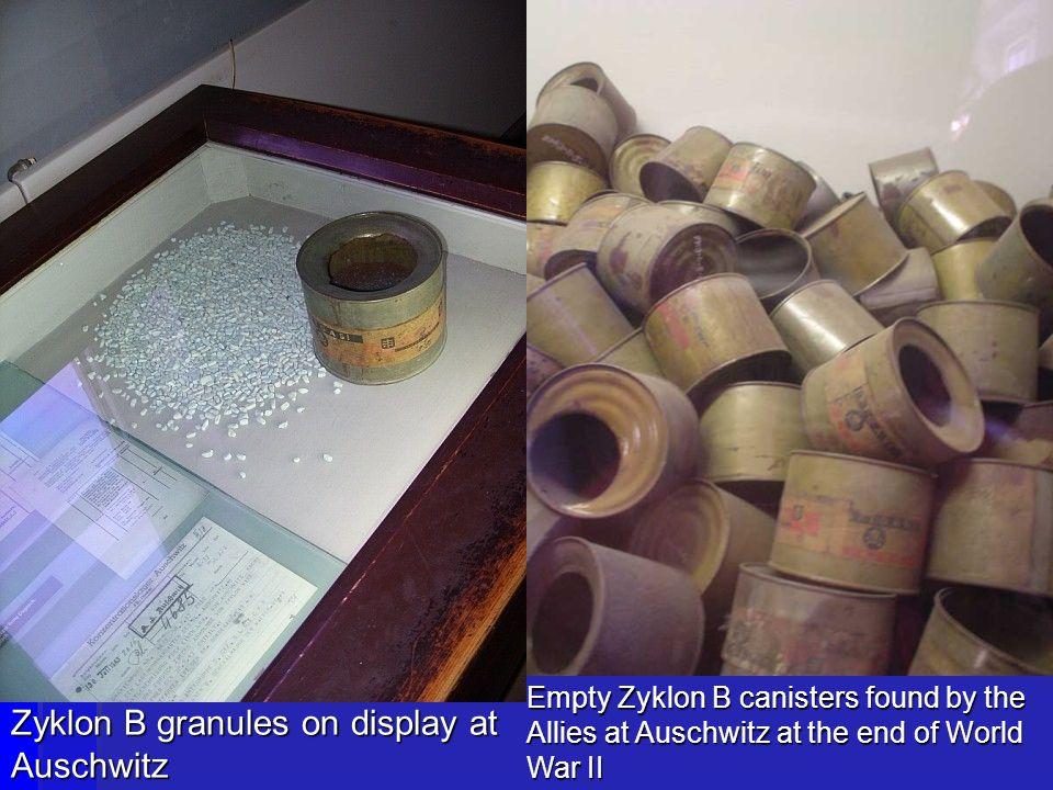 Zyklon B granules on display at Auschwitz
