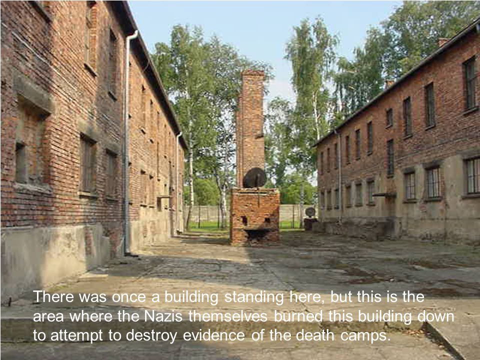 There was once a building standing here, but this is the area where the Nazis themselves burned this building down to attempt to destroy evidence of the death camps.