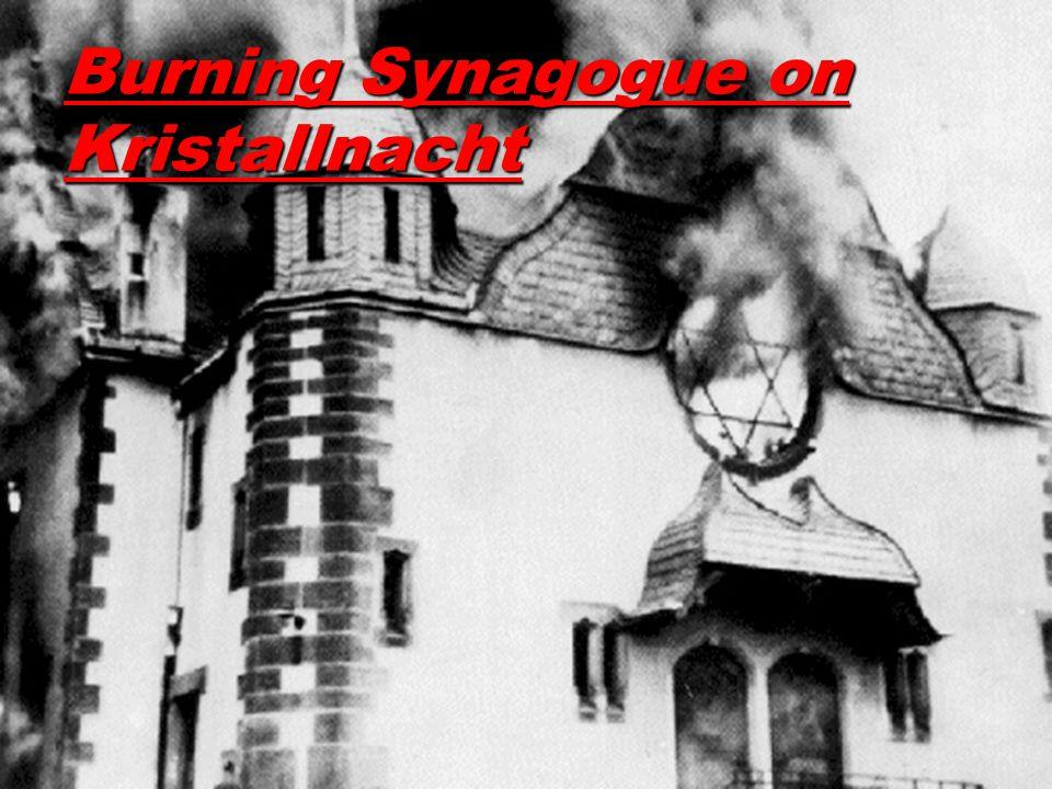 Burning Synagogue on Kristallnacht