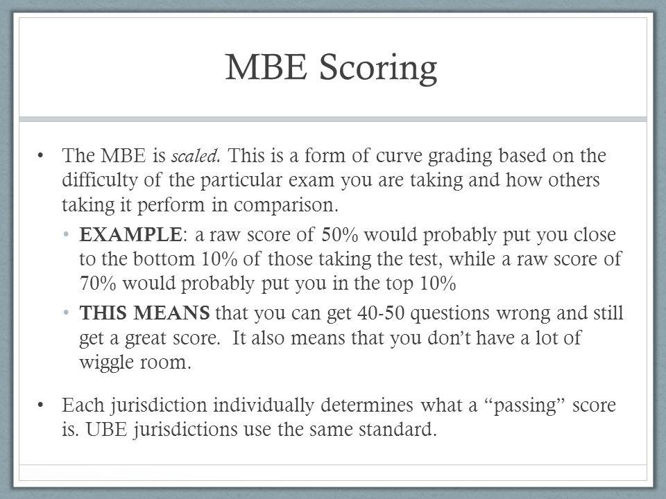 MBE Scoring