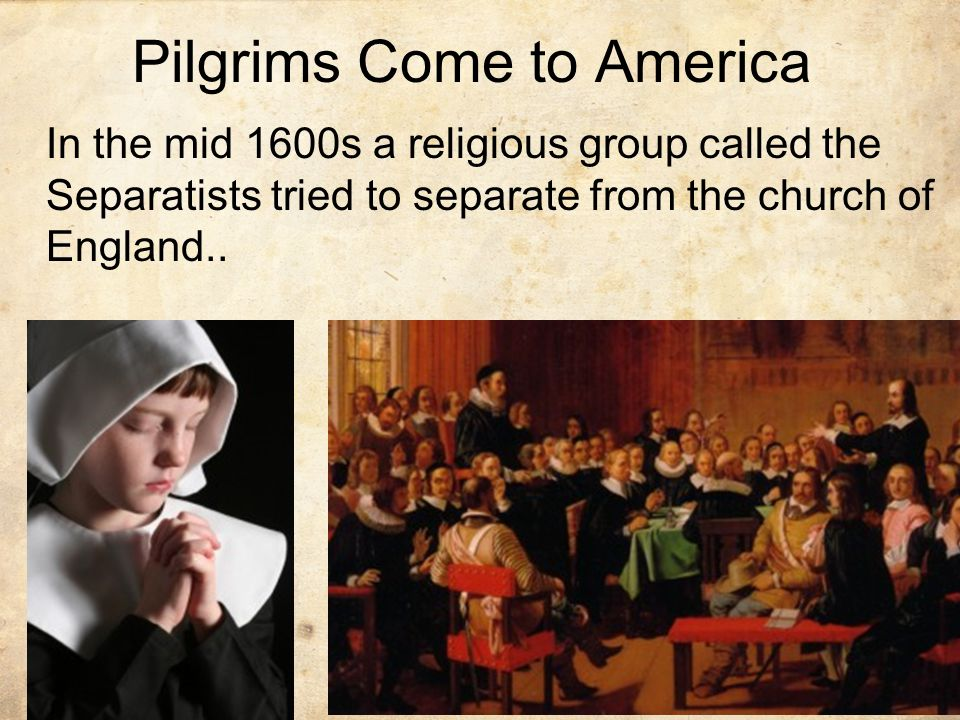 Pilgrims Come to America