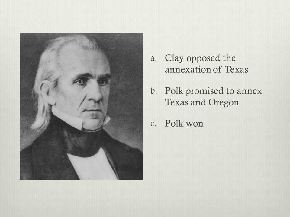 Clay opposed the annexation of Texas