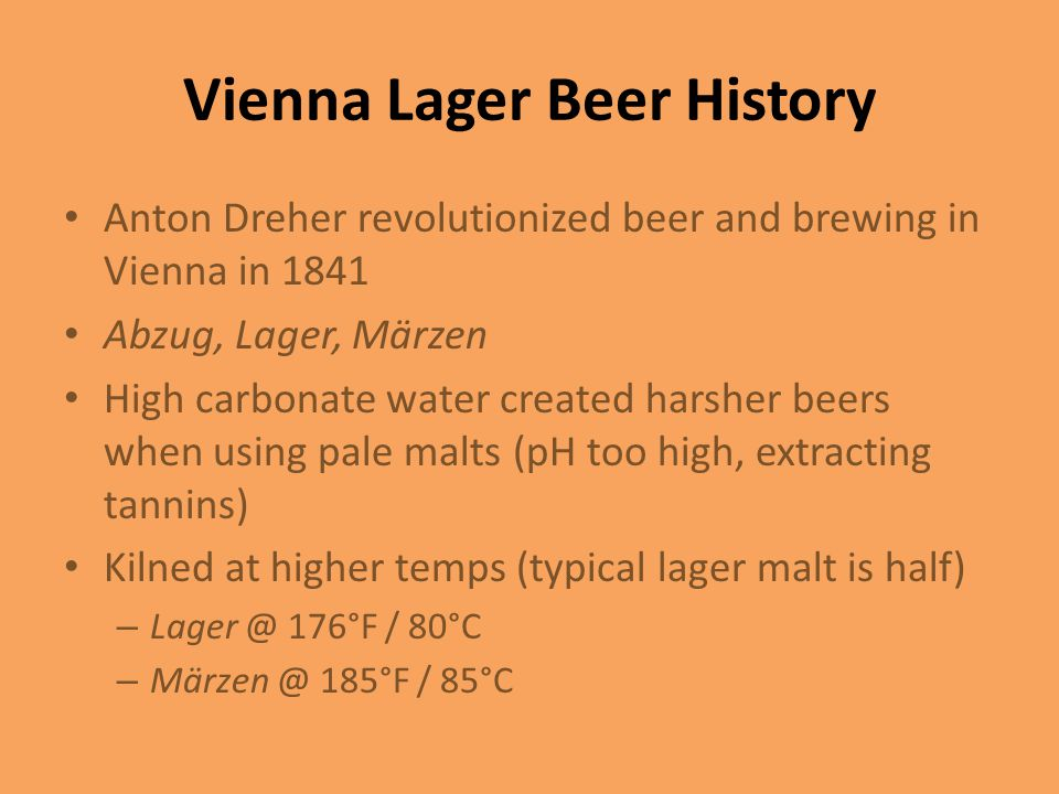 Vienna Lager Beer History