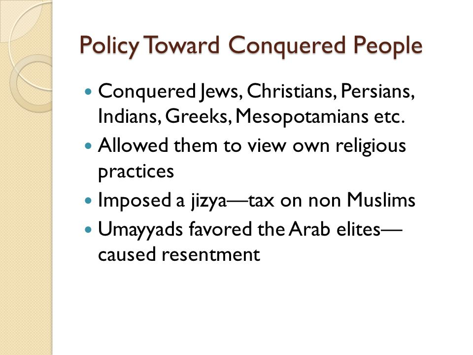 Policy Toward Conquered People