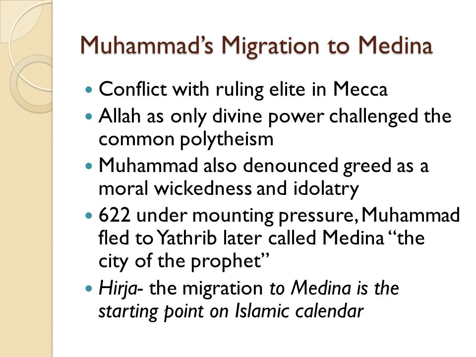Muhammad's Migration to Medina
