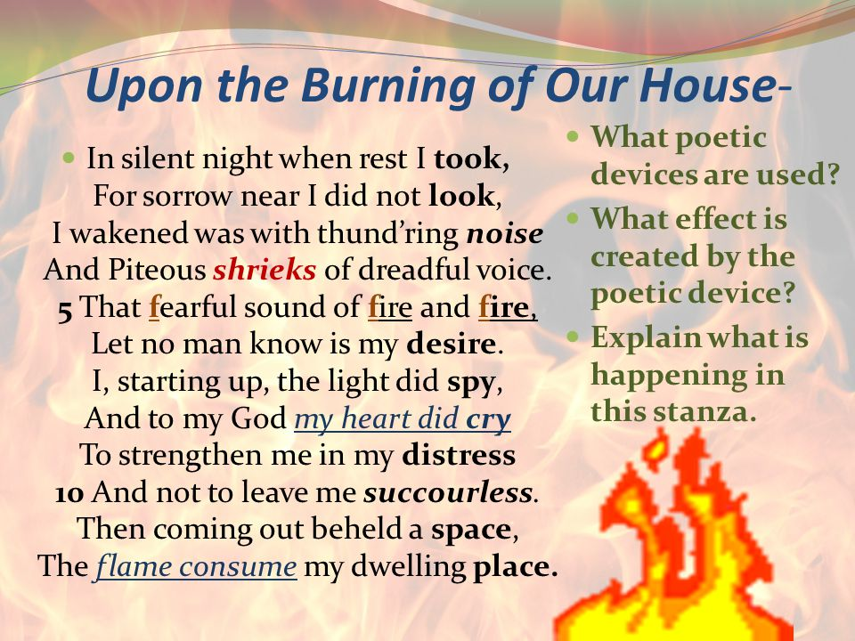 Upon the Burning of Our House-