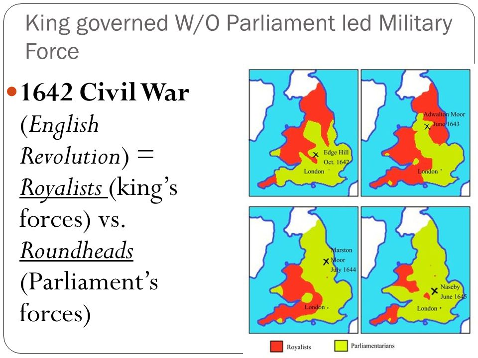 King governed W/O Parliament led Military Force