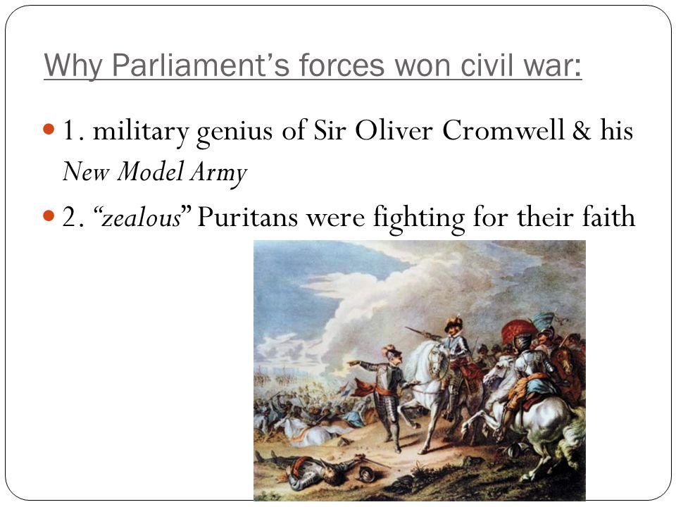 Why Parliament's forces won civil war: