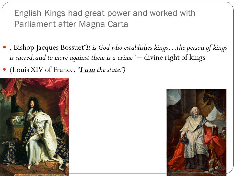 (Louis XIV of France, I am the state. )
