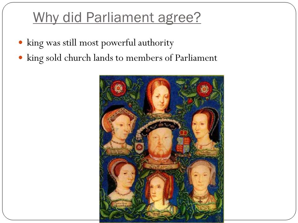 Why did Parliament agree