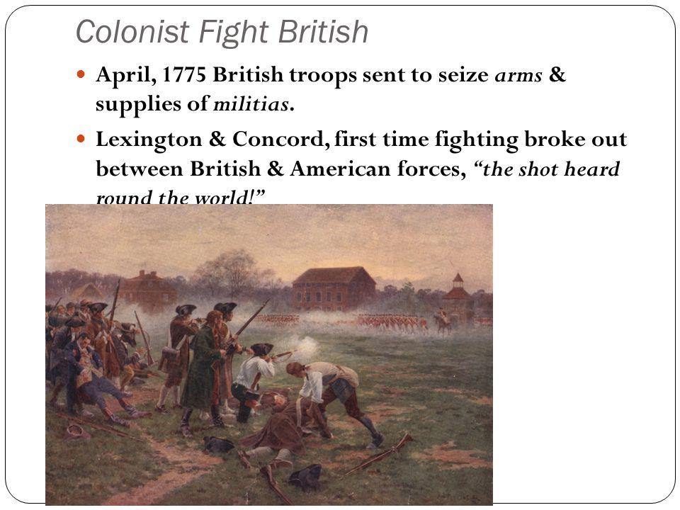 Colonist Fight British