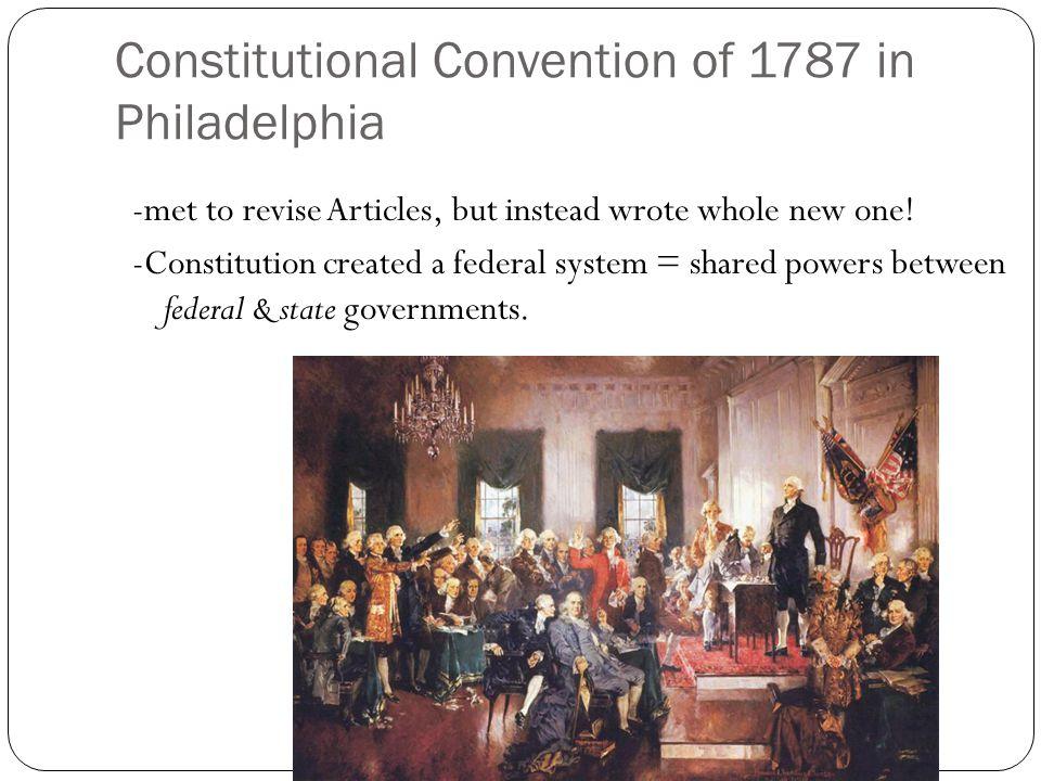 Constitutional Convention of 1787 in Philadelphia