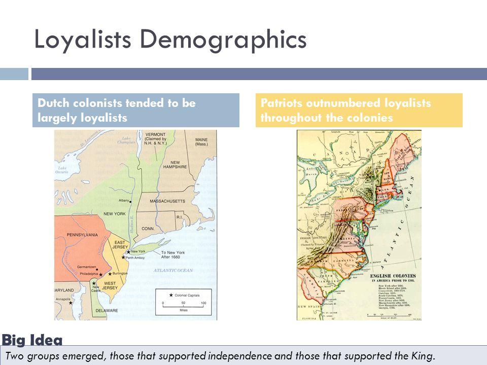 Loyalists Demographics