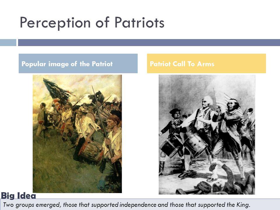 Perception of Patriots