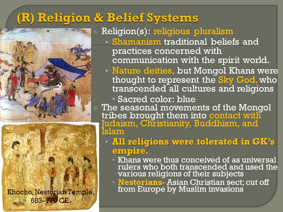 (R) Religion & Belief Systems