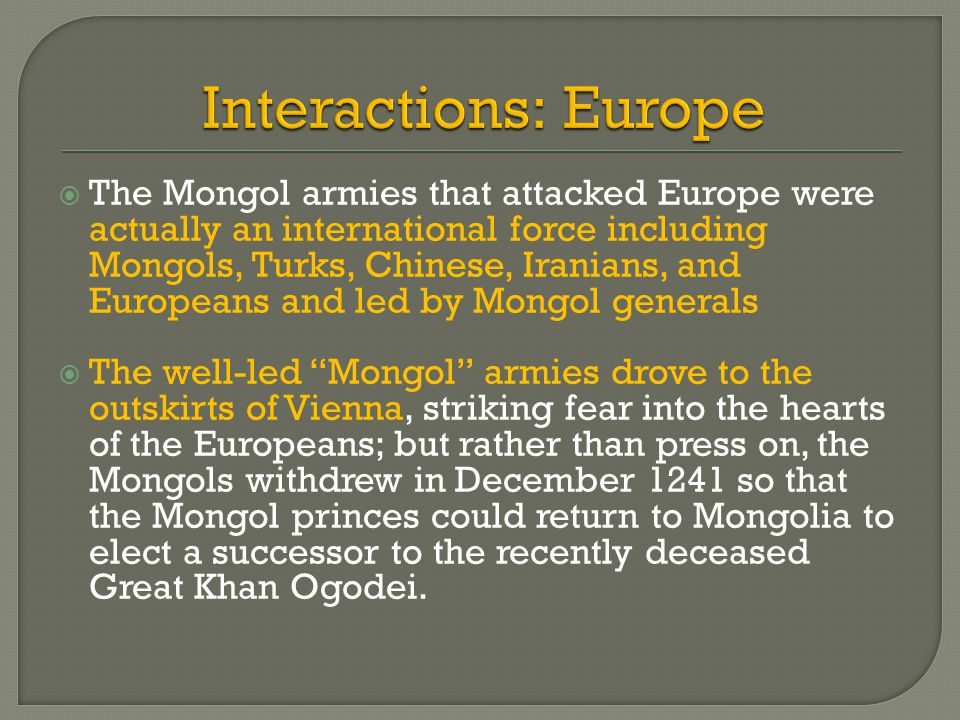 Interactions: Europe