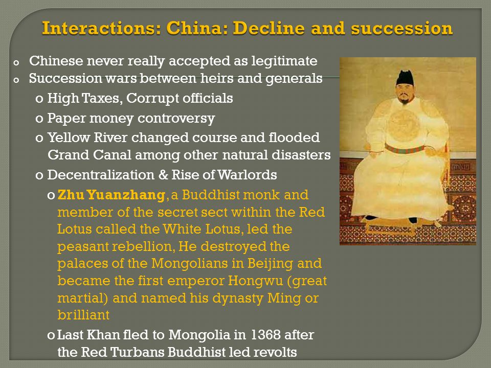 Interactions: China: Decline and succession
