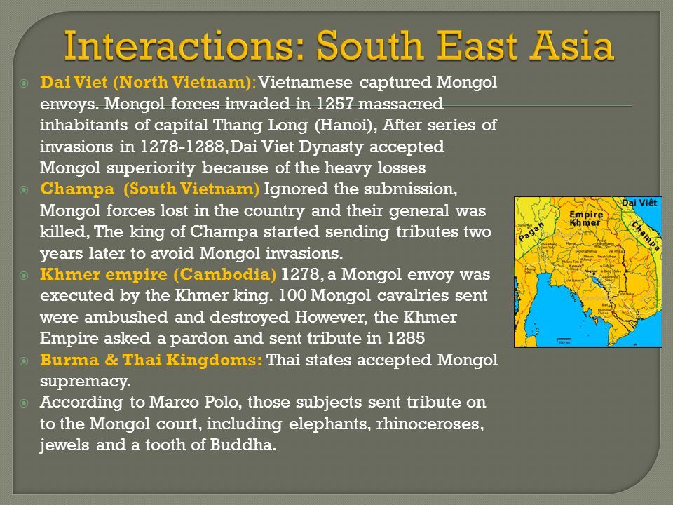 Interactions: South East Asia