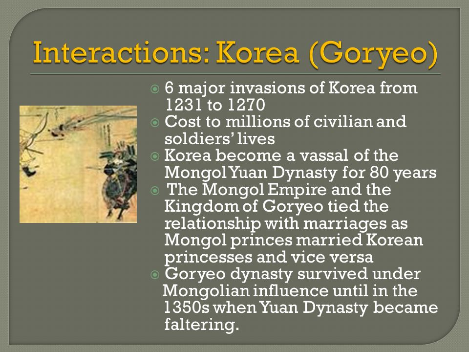Interactions: Korea (Goryeo)