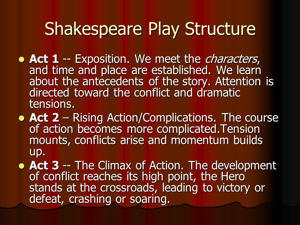 Shakespeare Play Structure