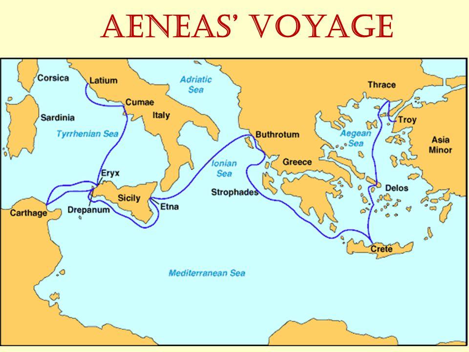 Aeneas' voyage