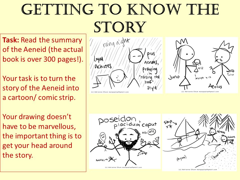 Getting to know the story