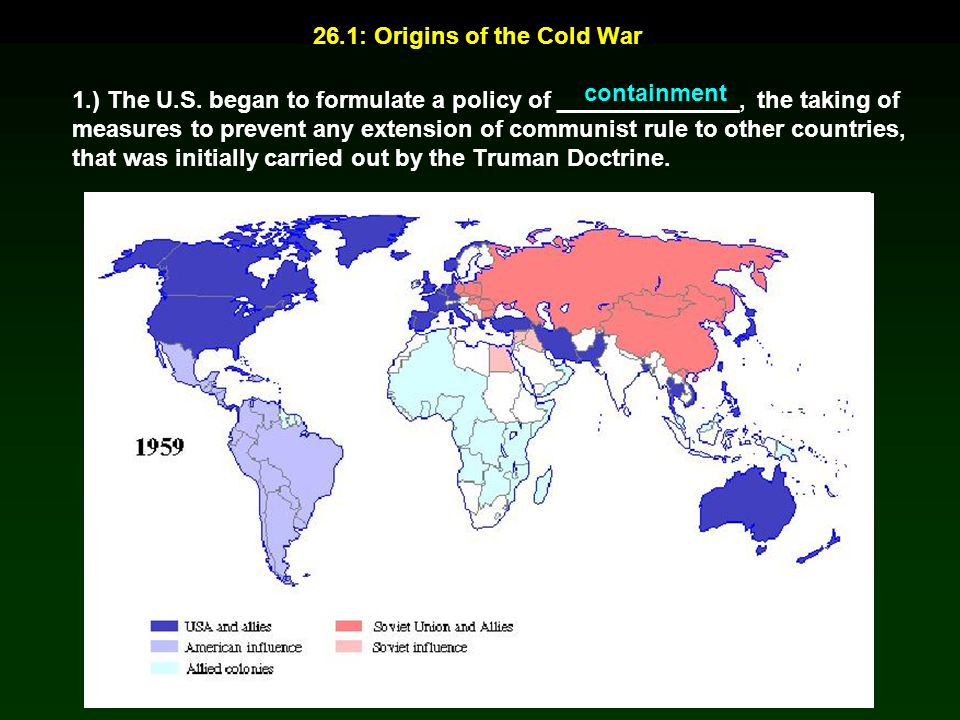 26.1: Origins of the Cold War