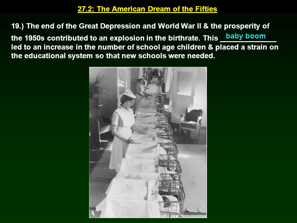 27.2: The American Dream of the Fifties