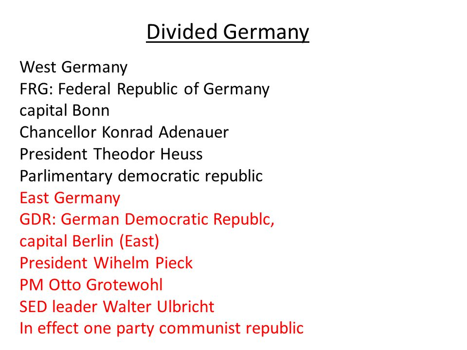 Divided Germany