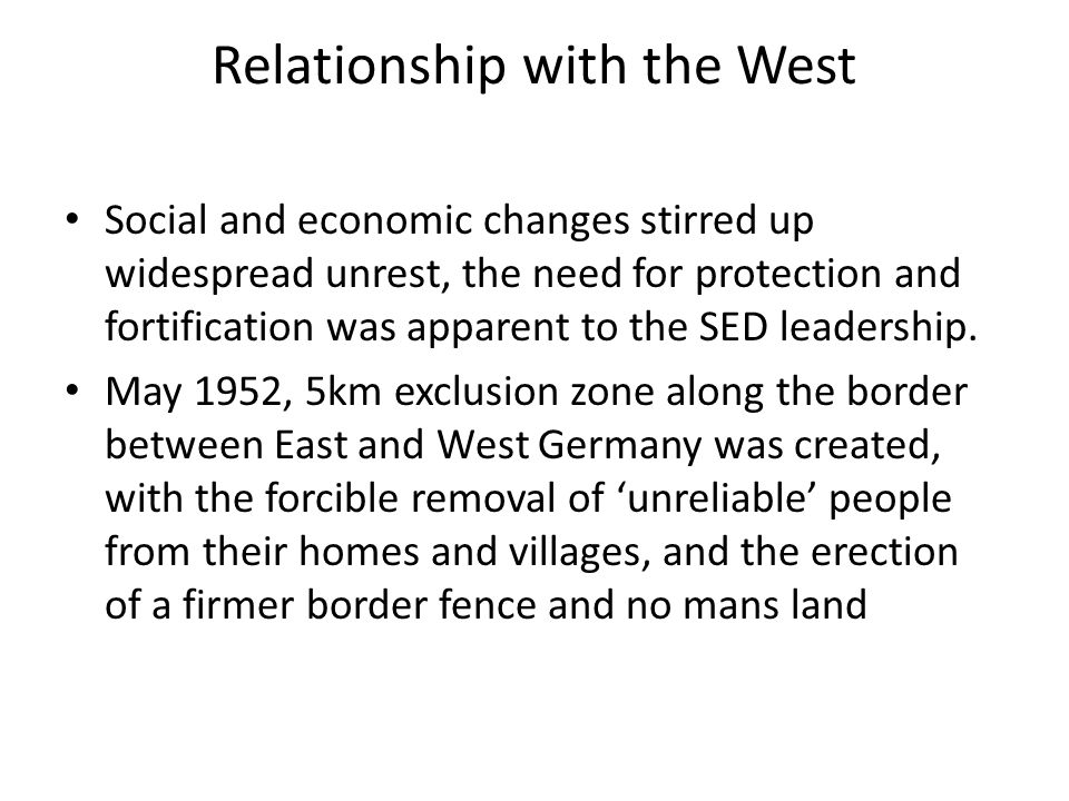 Relationship with the West