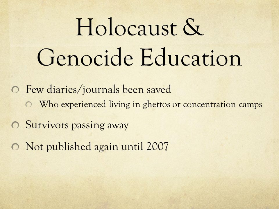 Holocaust & Genocide Education