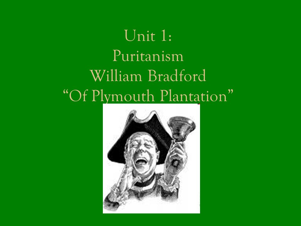 Unit 1: Puritanism William Bradford Of Plymouth Plantation