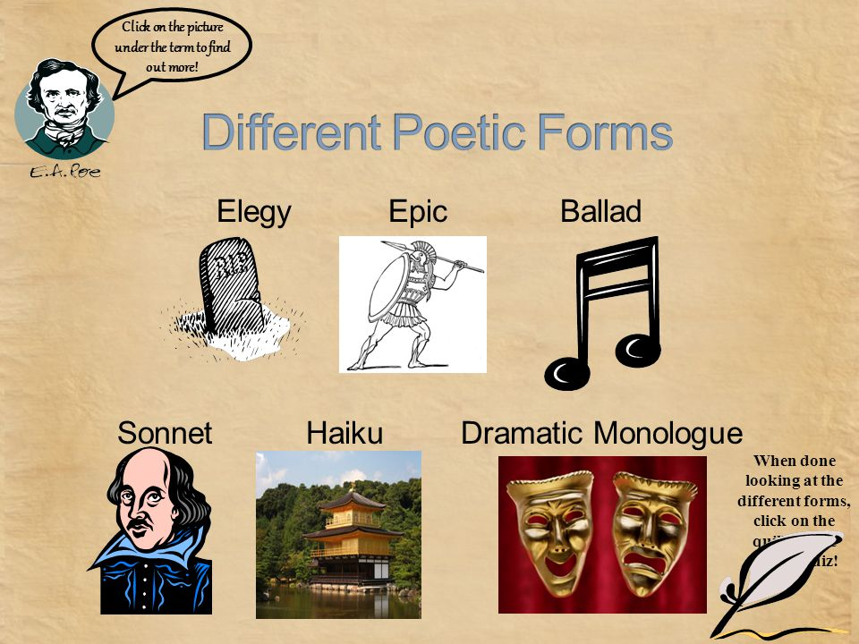Different Poetic Forms