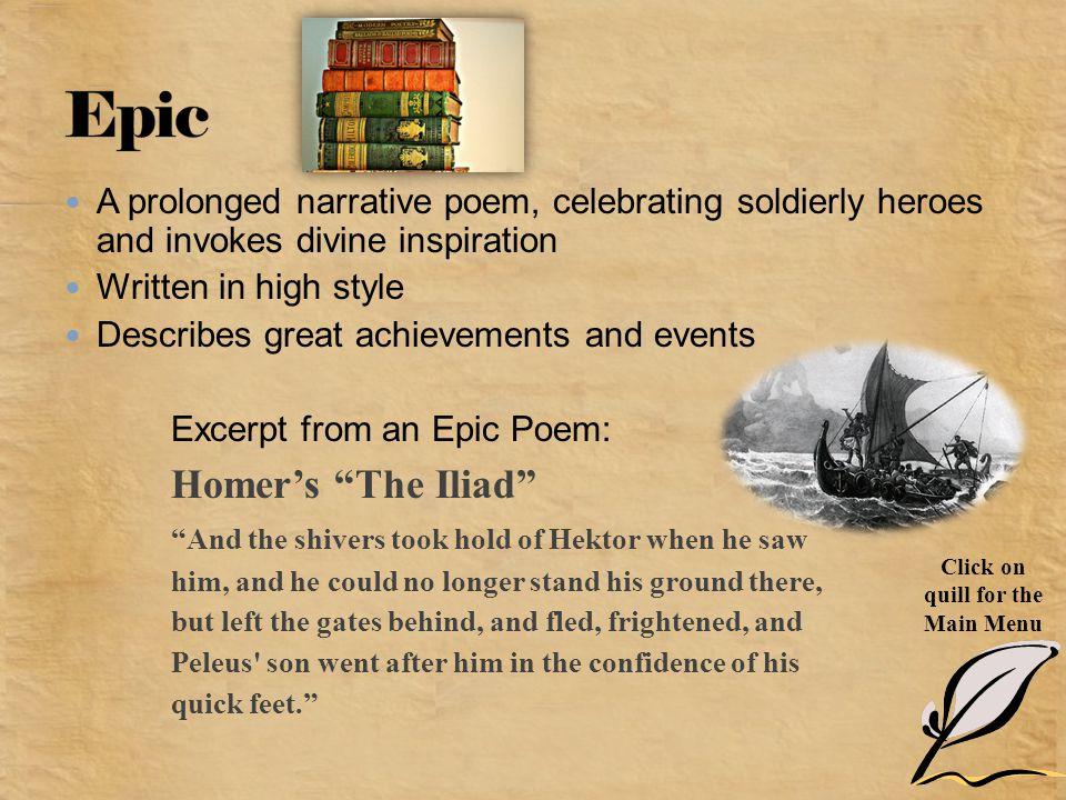 Epic Homer's The Iliad
