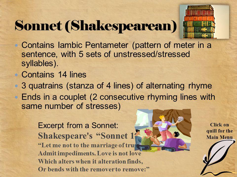 Sonnet (Shakespearean)
