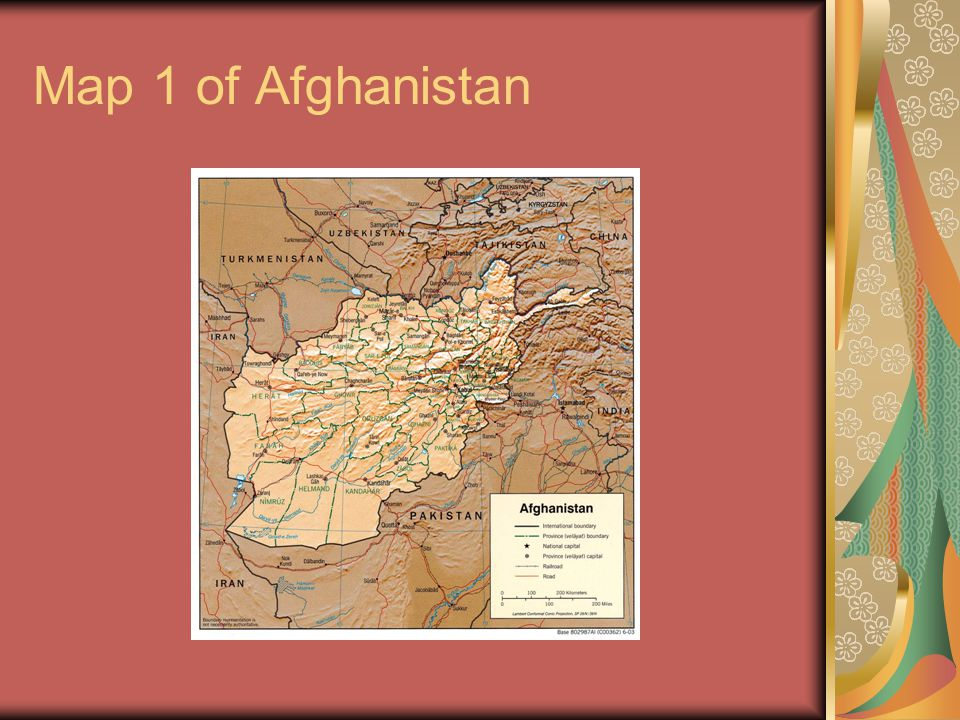 Map 1 of Afghanistan
