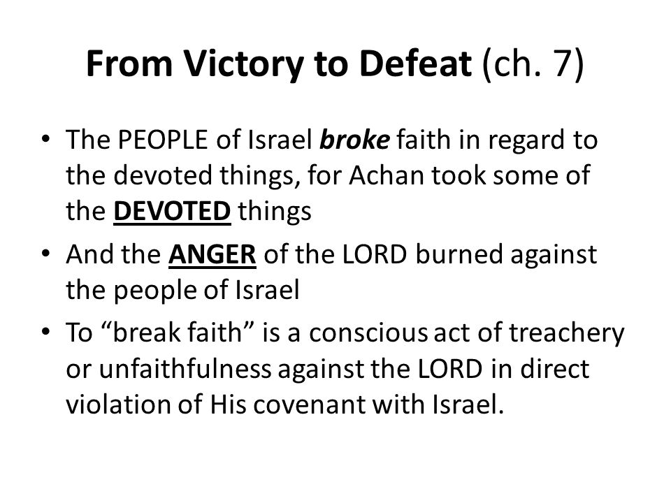 From Victory to Defeat (ch. 7)