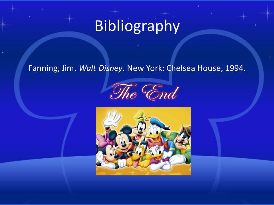 Fanning, Jim. Walt Disney. New York: Chelsea House, 1994.