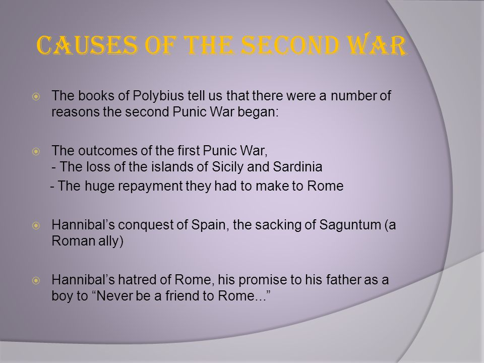 Causes of the Second War
