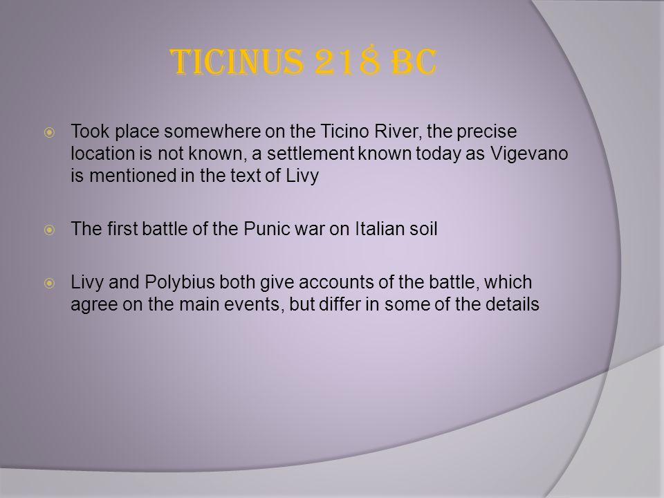 Ticinus 218 BC