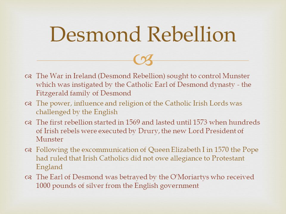 Desmond Rebellion