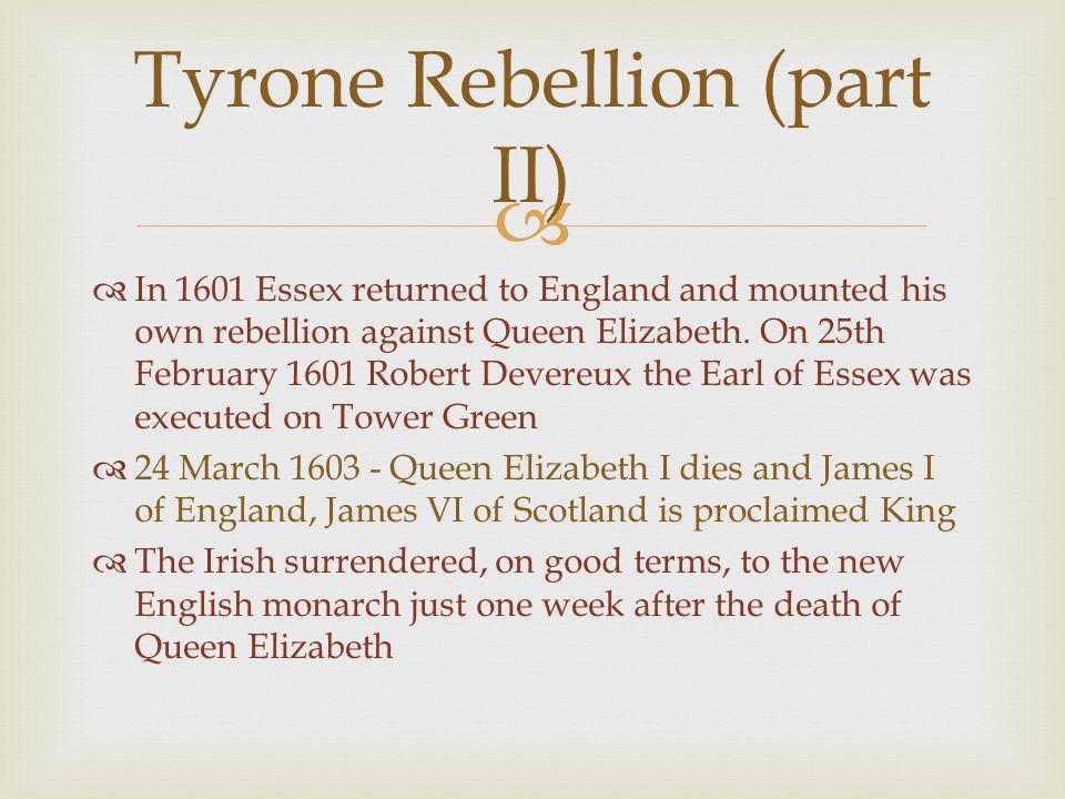 Tyrone Rebellion (part II)