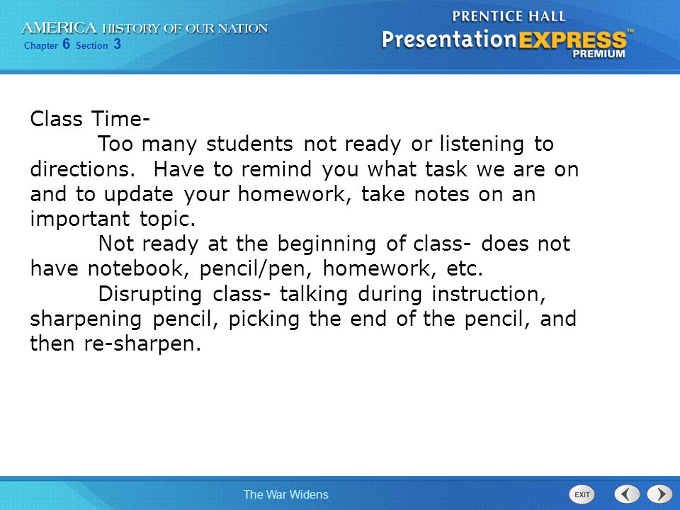 Class Time-