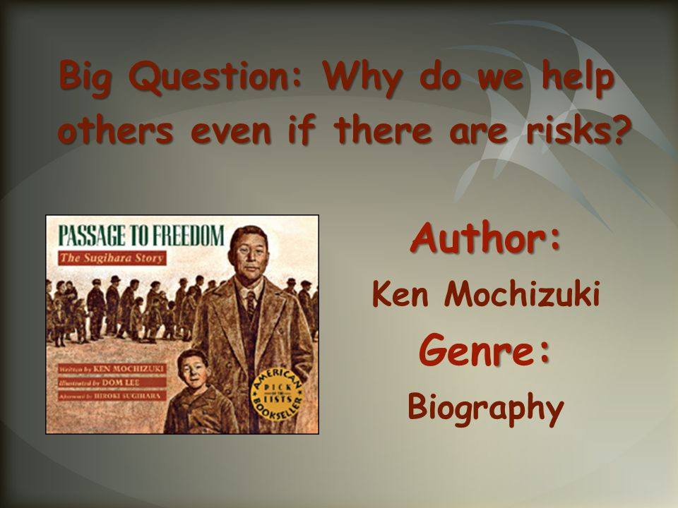 Author: Ken Mochizuki Genre: Biography