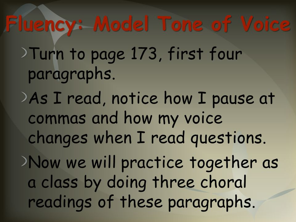 Fluency: Model Tone of Voice