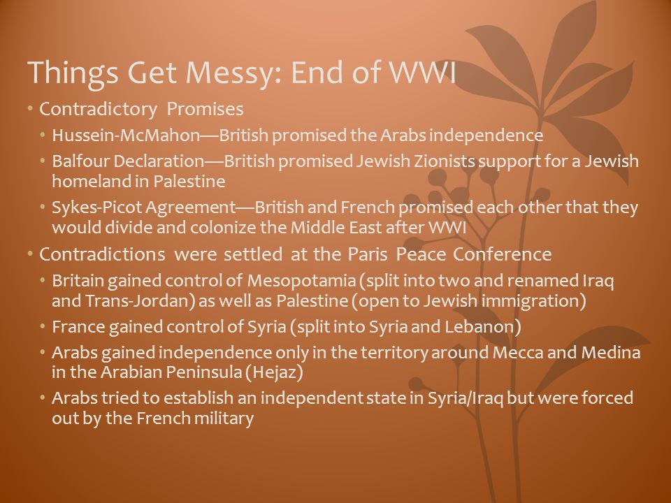 Things Get Messy: End of WWI