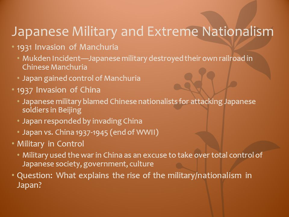 Japanese Military and Extreme Nationalism