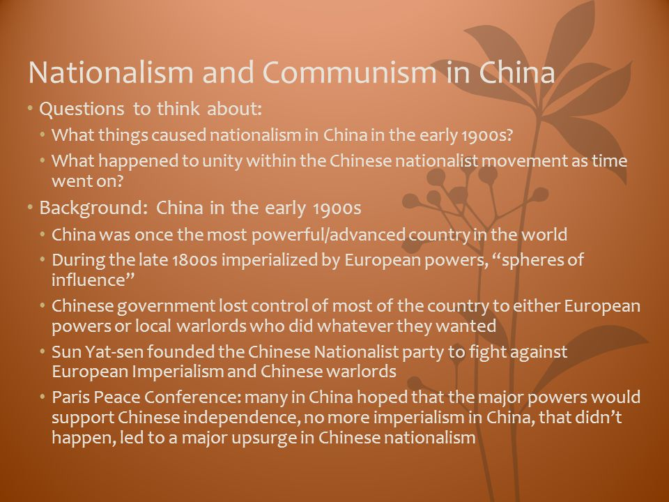Nationalism and Communism in China